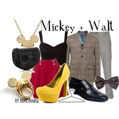 """""""Mickey + Walt"""" by lalakay on Polyvore"""