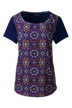 Women's+Art+T-shirt+from+Lands'+End|Evening Sapphire Moroccan Tile