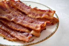 How to bake bacon in the oven so that it's just the way you want it! No more burning yourself with splattered bacon grease. Hooray!