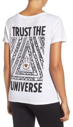 Women's Spiritual Gangster Trust The Universe Tee- law of attraction