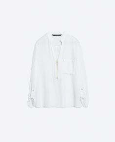 Image 8 of ZIPPED BLOUSE from Zara
