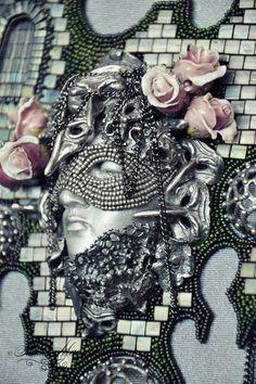 Колье, бусы ручной работы. Колье Mime Of Cologne, работа для Bead Dreams 2015. Алла Масленникова. Ярмарка Мастеров.
