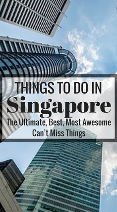 Can't Miss Things To Do In Singapore. The world's only island city-country, Singapore is a place where you can enjoy both natural and metropolitan attractions. It is known by many names, The Garden City, The Lion City or The Little Red Dot, and is a meldi