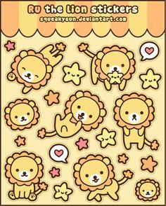 Ru the lion stickers by SqueakyToybox.deviantart.com on @deviantART