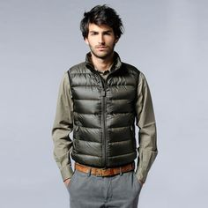 I've always wondered why all italian men have one of these - Agile Light Nylon vest by ASPESI