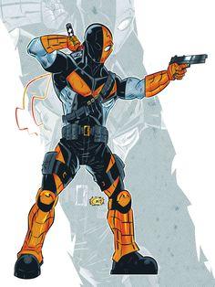 My first attempt, in Manga Studio Deathstroke Deathstroke Costume, Deathstroke The Terminator, Deadshot, Comic Book Villains, Dc Comics Characters, Dc Comics Art, Comic Books, Batman Vs Superman, Teen Titans