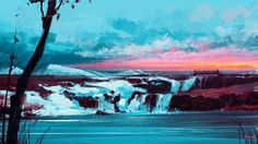 Northwind, Alena Aenami on ArtStation at https://www.artstation.com/artwork/GzZ4N