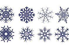 Copos de nieve vectorizados.