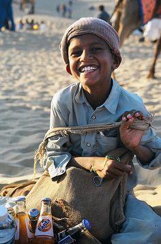 Soda seller . Jaisalmer Desert Festival .   Rajasthan
