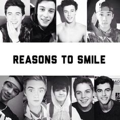 Nash Grier, Shawn Mendes, Cameron Dallas, Carter Reynolds, Taylor Caniff, Jack Johnson, Aaron Carpenter, Matt Espinosa and Jack Gilinsky.❤️