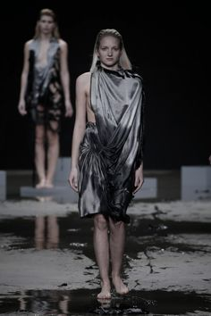 No ordinary fashion show for Jef Montes this time around. The designer turned his collection presentation into a true spectacle. Perfect silver dresses just Amsterdam Fashion, Silver Dress, Shows, Catwalks, Fashion Show, Street Wear, Fashion Photography, Fall Winter, Fabrics