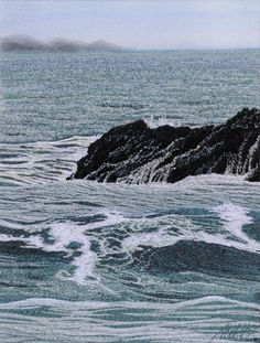 Machine embroidered picture called by Alison Holt BA Textile Artist