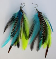 bohemian water fairy feather earrings
