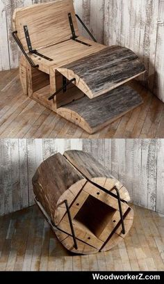 Very cool chair from a log! Thumbs Up Or Down
