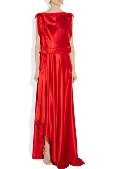Lanvin Silk Charmeuse Gown