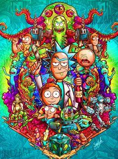 Rick And Morty Image, Rick I Morty, Trippy Wallpaper, Cartoon Wallpaper, Graffiti Wallpaper, Dope Wallpapers, Gaming Wallpapers, Rick And Morty Drawing, Rick And Morty Poster
