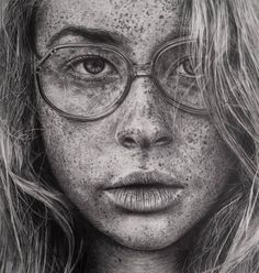 Monica Lee - Hyperreal graphite drawings. Great to show Draw/Design for expressive self portraits and also AP for use of shading technique to produce the illusion of form and depth