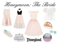 """Honeymoon in Disneyland"" by anthropolyvist ❤ liked on Polyvore featuring Coast, Boohoo, Topshop, Ballet Beautiful, Kate Spade, Bling Jewelry, La Regale, Disney and LE VIAN"