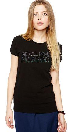 She Will Move Mountains Shirt - Motivational Shirt - Inspirational Shirt - Inspirational Quote - Yoga Shirt - Yoga Clothes - Namaste Tshirt by Umbuh