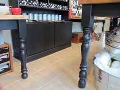 Want to raise your table to counter height?  Add a Finial to the legs.