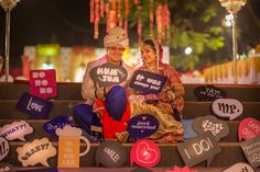 Photo Booth Style for Couples - High on #Trend in Indian #Weddings ! Photo Credit : White Lily Studio !