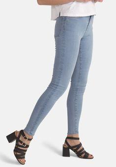 386d7079b5 JANE // Organic Super Skinny High Waist Jeans in Light Blue Eco Wash