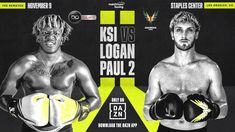 Before KSI and Logan Paul 2 step into the ring, DAZN will have a countdown show which you can watch live on Fightful. Maverick Logan Paul, Ksi Vs Logan, Adam Saleh, Nfl Sunday Ticket, Full Show, Youtube Stars, 24 Years Old, Celebrity Gossip, Celebrity News