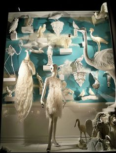 White Birds by Viridia, via Flickr  Bergdorf window display