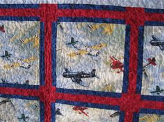 """Tommy's Airplane Quilt"" by Patti Webster - Show & Tell - Quilters Club of America"