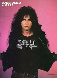 Pretty boy Lawless ;) Blackie Lawless of W.A.S.P. #BlackieLawless #wasp