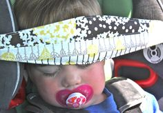 organic cotton car seat head support for sleepy little car rides. #slumbersling only $21.99 at www.ashandalysbabes.com