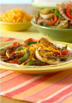 Grilled Orange Chipotle Pork Fajitas – Pork and vegetables grill together which saves both energy and time!