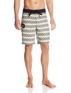 3e9aa5170cd5df Boca Classics Mens Abstract Palm Swim Shorts Large Blue ** Check out the  image by visiting the link.