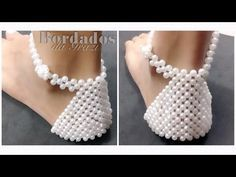 Joanne Archambault shared a video Beaded Shoes, Boho Shoes, Beaded Sandals, Crochet Boots, Crochet Slippers, Fabric Flip Flops, Creative Shoes, Dog Clothes Patterns, Beaded Crafts