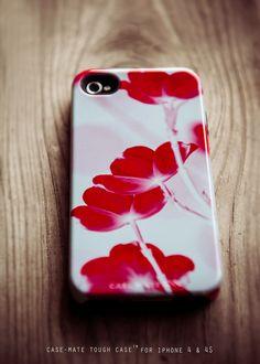 iPhone 5 Case - Bourgogne - ruby and grey iphone 5 case - iPhone 5 hard case, flower print, feminine, flower print, dogwood. $42.00, via Etsy.