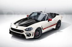 abarth will inject fiat  spider hp send hardtop render
