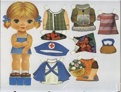 RECORTABLES - Ana Cláudia - Webové albumy programu Picasa Vintage Paper Dolls, Antique Dolls, Doll Toys, Baby Dolls, Candy Pictures, Paper Art, Paper Crafts, Paper Dolls Printable, Operation Christmas Child