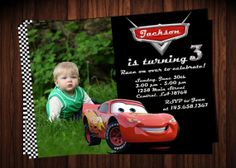 Disney Cars Lightning McQueen Birthday Party Invitation - Printable File on Etsy, $8.99