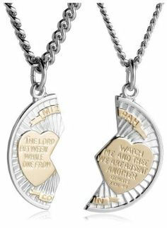Buy online more jewelry items from design fine jewelry online shopping site with a sale price... BUY HERE: http://www.designfinejewelry.com/item/sterling-silver-and-stainless-steel-mizpah-medal-necklace/  This Sterling Silver and Stainless Steel Mizpah Medal Necklace comes with 20 and 24-inch chains that can be worn as a layered look . You can gift this necklace to your friend or loved one.