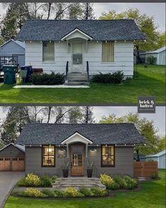 Farmhouse Homes, Modern Farmhouse Decor, Farmhouse Design, Texas Farmhouse, Ranch Remodel, Beautiful Farm, Amazing Transformations, Exterior Makeover, Paint Colors For Home