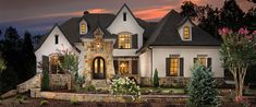 Most Popular Dream House Exterior Design Ideas - Page 33 of 39 - Afshin Decor Style At Home, Country Style Homes, Exterior Paint, Exterior Design, Stucco And Stone Exterior, Future House, My House, French Country Exterior, French Country House Plans