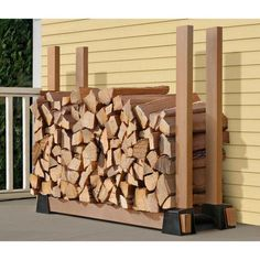 Firewood Storage Covered Dad Stays Home Place For Stay At - Creative firewood storage ideas turning wood beautiful yard decorations