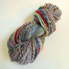 Handspun Art Yarn knitting wool yarn for knitting by thefibretree