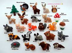 Forest Animalswoodland animals felt magnets  by LadybugOnChamomile