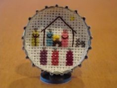 I have been doing counted cross stitch for many years! A few years ago I started a mini Nativity collection. I decided to make my own mini design Nativity Crafts, Christmas Nativity, Christmas Cross, Nativity Sets, Cross Stitching, Cross Stitch Embroidery, Cross Stitch Patterns, Mini Cross Stitch, Simple Cross Stitch
