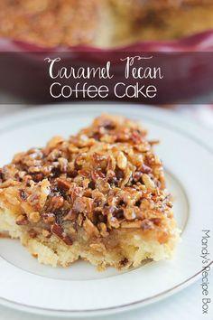 ❥ Caramel Pecan Coffee Cake