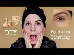 DIY: How To Tint Your Brows At Home ♡ Chleo Parry - YouTube