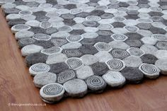 Sushi Natural Rug (texture close up), an unusual handmade 100% felted wool rug in cream & grey http://www.therugswarehouse.co.uk/modern-rugs3/sushi-rugs/sushi-natural-rug.html #rugs #interiors