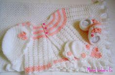 Minhas linhas e eu: Conjuntinho para bebê - receita do gorrinho, em crochet