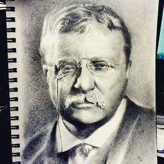 Realism Theodore Roosevelt pencil Sketch